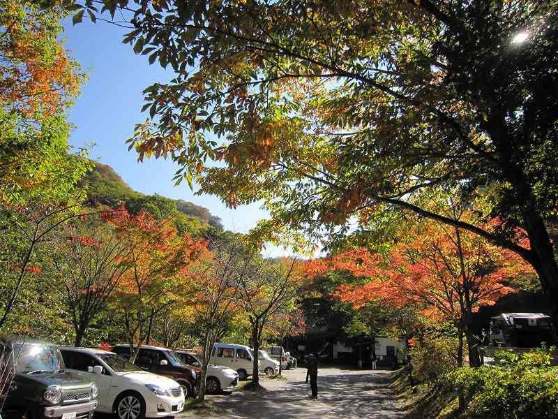 10月26日 湯元『河鹿橋』周辺の様子