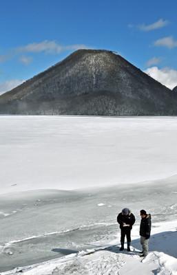 榛名湖の穴釣り